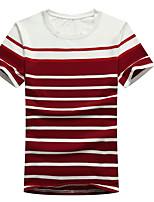 Zhuo wolf men new men's tee stripe T-shirt cotton T1601