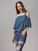 Women's New Style Strapless Strap Women's Blouses Boat wmNeck Loose Back Open Show Thin Plus Size Top
