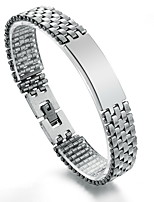 Men's Hight Quality Titanium Steel Silver Bracelet