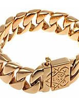 Pulseiras em Correntes e Ligações 1pç,Moderno Forma Geométrica Dourado Aço Inoxidável Jóias Presentes