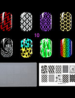 1PC Plastic The Lastest Style Clear White Environmental  Lovely Nail Stamping Plate with Fashion Pattern. (KD-SM612-010)