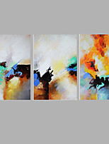 Iarts Colorful Design Modern Abstract Painting Stretchered 60x40x3pcs (24 x16 inch x3) Stretchered Ready to Hang