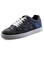 CEYUE Men's Shoes PU Casual Walking Flat Heel Lace-up Black / Blue / Red EU39-43
