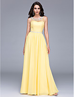 TS Couture® Formal Evening Dress Sheath / Column Jewel Floor-length Chiffon