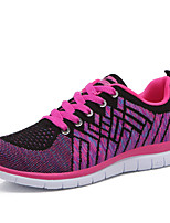 Women's Shoes Tulle Spring / Summer / Fall Comfort Athletic Flat Heel Purple / Gray / Fuchsia