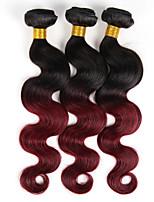 3 Stück Große Wellen Menschliches Haar Webarten Indisches Haar Menschliches Haar Webarten Große Wellen