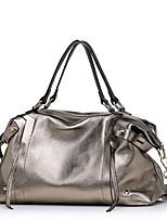 Women-Formal-PVC-Tote-Silver