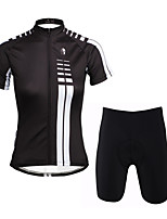 PaladinSport Women  Cycyling Jersey + Shorts Suit DT646 White Vertical Lines