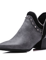 Women's Shoes PU Fall / Winter Heels / Bootie / Pointed Toe Boots Party & Evening /  Casual Chunky Heel Rivet