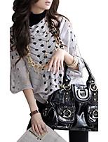 Damen Standard Pullover-Lässig/Alltäglich Retro / Boho Solide Beige / Grau Rundhalsausschnitt ½ Länge Ärmel Baumwolle Sommer Dünn