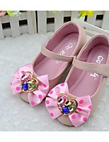 Girls' Shoes Dress / Casual Comfort PU Flats Black / Pink / White