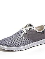 Hombre-Tacón Plano-Confort-Zapatillas de deporte-Exterior / Casual / Deporte-Tul-Azul / Gris / Caqui