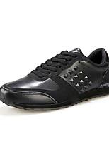Hombre-Tacón Plano-Confort-Zapatillas de deporte-Exterior / Casual / Deporte-Cuero / Ante-Negro / Azul / Rojo