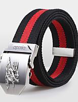Men Canvas Waist Belt,Vintage / Party / Work / Casual Alloy D6B5P502