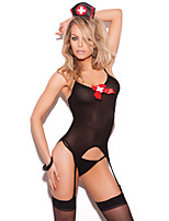 Women Gartered Lingerie / Suits Nightwear,Core Spun Yarn