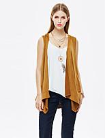 Heart Soul® Women's Round Neck Sleeveless Vest & Waistcoat Brown-11AA27876