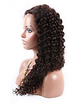Natural Black Color 100% Brazilian Human Hair Natural Fashion Curly  Lace Wig 10-26 Inch U Part Lace Front Wig