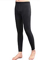 Men's Cotton / Spandex / Bamboo Carbon Fiber Long Johns Warm With Thick Leggings