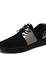 Men's Flats Summer Flats Tulle Casual Flat Heel Lace-up Black / Silver Walking