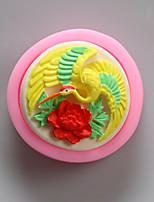 moldes de aves de silicone animais de chocolate, moldes de bolo, moldes de sabão, ferramentas de decoração bakeware