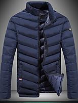 Men's Regular Padded Coat,Spandex Solid Long Sleeve