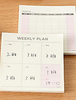 Memos Notepad A045 Weekly/Monthly Plan Function of This Little Book