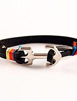 Men's Anchors Friendship Charm Bracelet Leather Valentine Tibet Day Bracelets