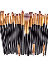 20pcs/set Makeup Brushes Powder Foundation Eyeshadow Eyeliner Lip Brush Set+Small Foundation Puff