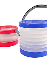 Foldable Bucket Collapsable Water Can Camping Boating Fishing Beach Cleaning Bucket(Random Color)