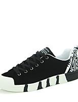 Men's Shoes Fabric Casual Walking Flat Heel Lace-up Black / Blue EU39-43