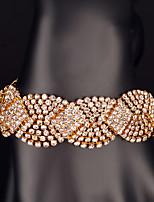 Pulseras y Brazaletes Cadena Oro Cristal De mujeres