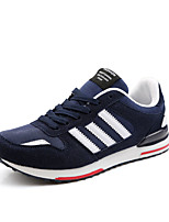Men's Sneakers Summer Flats Tulle Lace-up Black / Blue / Gray Running