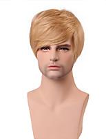 lindo peinado guapo recta corta rubia peluca 100% humano