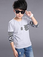 Boy's Cotton / Rayon Tee,Winter / Spring / Fall Striped