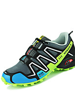 CEYUE Men's Shoes PU Athletic Running Flat Heel Lace-up Black / Blue / Gray EU39-43