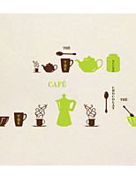 AY6009 Kitchen Cooking Utensils Wall Sticker Windows Glass Decor Home Cabinet Tile Carved Stickers