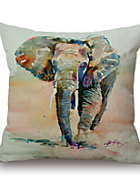 Cotton/Linen Pillow Cover,Novelty / Animal Print / Graphic Prints Modern/Contemporary / Casual