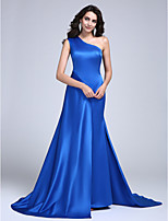 TS Couture® Formal Evening Dress A-line One Shoulder Court Train Satin with
