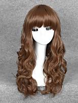 pelucas cosplay de color marrón onda pelucas sintéticas baratas para las mujeres negras pelucas de la manera