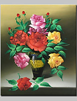 Hand Painted Flowers Oil Painting On Canvas Modern Abstract Wall Art Picture With Stretched Frame Ready To Hang 50x60cm