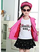 Completo e giacca Girl Casual Tinta unita PU (Poliuretano) Primavera / Autunno Rosa / Viola
