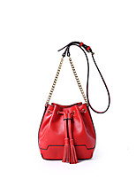 Women-Casual / Office & Career-Cowhide-Shoulder Bag-Green / Red