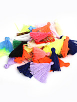 Beadia 50Pcs Fashion 27mm Cotton Tassels For Jewelry Making(18 Colors)