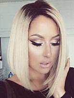 2016 новый стиль блондинка цвет синтетический парик фронта шнурка боб парики для чернокожих женщин