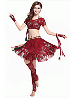 Accesorios(Negro / Rojo,Poliéster,Danza del Vientre) -Danza del Vientre- paraMujer Drapeado Representación