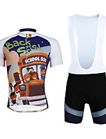 Cycyling PaladinSport Men Shirt + Straps Shorts Suit DBT635 School Childishness