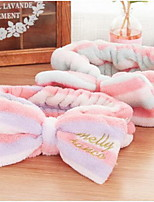 South Korean Creative Pink Plush Headband Wash