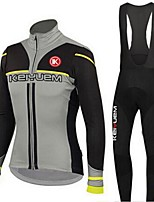 KEIYUEM Bike/Cycling Jersey / Tights / Clothing Sets/Suits Unisex Long SleeveBreathable / Quick Dry / Dust Proof / Wearable /