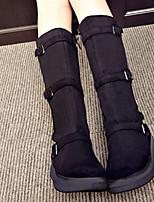 Tacón Cuña-Botas de Moto-Botas-Casual-PU-Negro / Gris