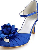 여성의 신발 실크 스틸레토 힐 힐 / 관음 증 발가락 발 뒤꿈치 웨딩 / 파티&저녁 / 드레스 화이트 / 블루 / 레드